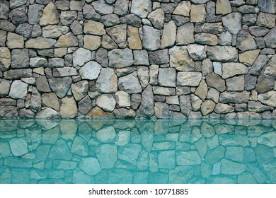 Wall of a swimming pool