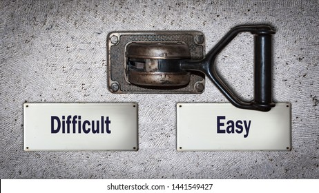 Wall Switch the Direction Way to Easy versus Difficult