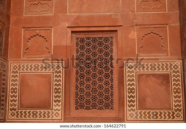 Wall Taj Mahal India Intricate Designs Stock Photo Edit Now 164622791