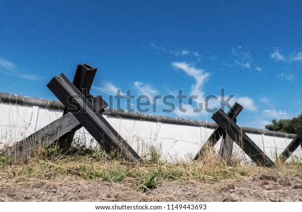 Wall and tank traps of german wall