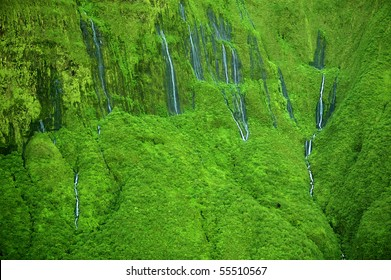 The 'Wall of Tears'  has over 17 waterfalls flowing at once - Maui, Hawaii