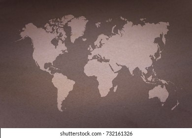 Wall texture background surface natural color with world map