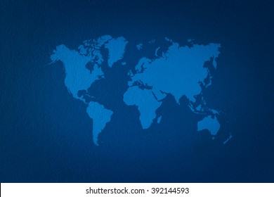 Wall texture surface natural color use for background with world map