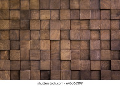 Wall texture with wood cube for background