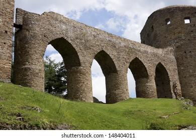 Wall of Velhartice Castle