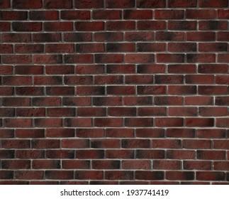 Wall, wallpaper made of dark brown brick