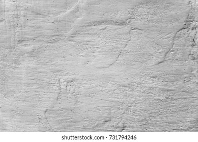 Wall whitewashed by lime in white color, textured background. Ukraine