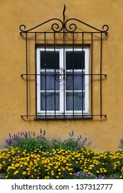 Wall and window with flowers