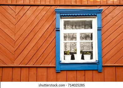 Wall and window of old country house