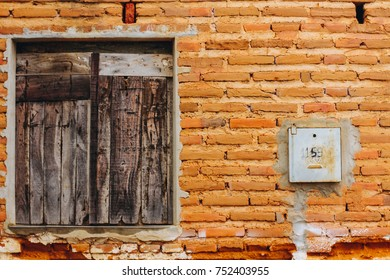 Wall and window, traditional house from northeast, Brazil