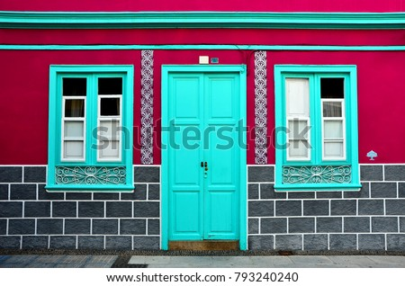 Wall Windows Door Home Tenerife Canary Stockfoto Jetzt Bearbeiten