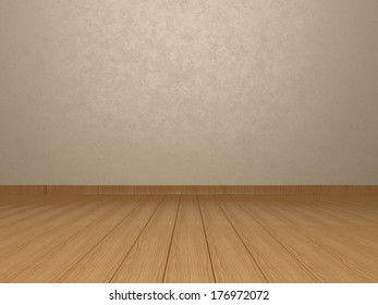 Wall and wooden floor