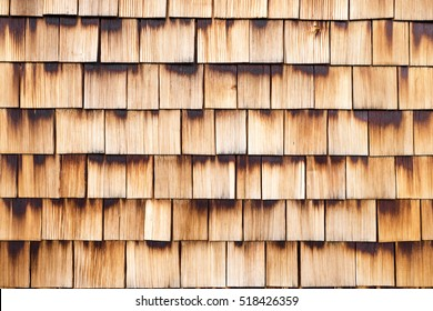 Wall of wooden Shingles