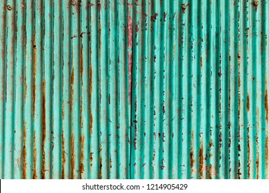 wall zinc rust