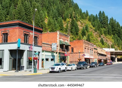 WALLACE, ID - AUGUST 20: Historic main street of Wallace, ID on August 20, 2015