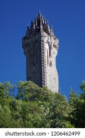 The Wallace Monument is a 67 m high four-sided tower, which was built in 1869 at Stirling, Scotland, in memory of William Wallace.