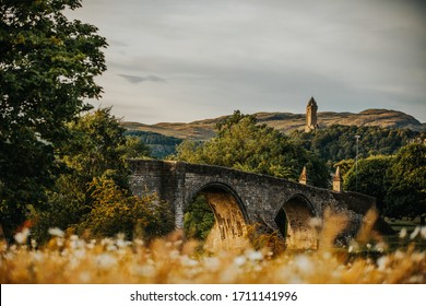 Wallace Monument HQ sunset Stirling Scotland