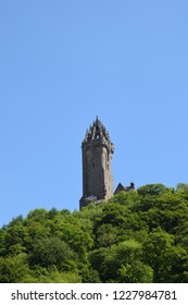 Wallace Monument, Stirling Scotland in early spring