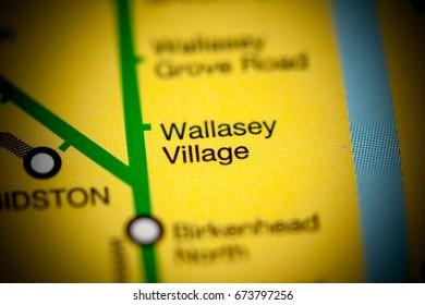 Wallasey Village Station. Liverpool Metro map.