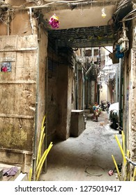 Walled city, Lahore, Pakistan - 28th January 2018: Conceptual image of streets of ancient walled city of Lahore, Pakistan