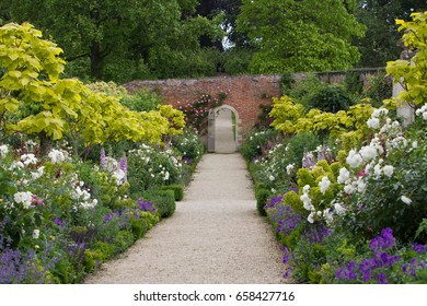The Walled Garden at Buscot Park House in Oxfordshire