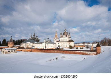 The walled Monastery of Archangel Michael, founded in the 13th century in Yuryev-Polsky, Russia
