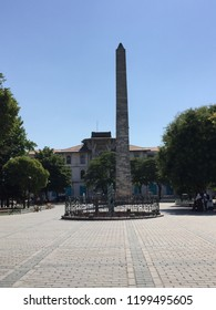 Walled Obelisk or Constantine Obelisk/Istanbul,TURKEY 29.08.2018