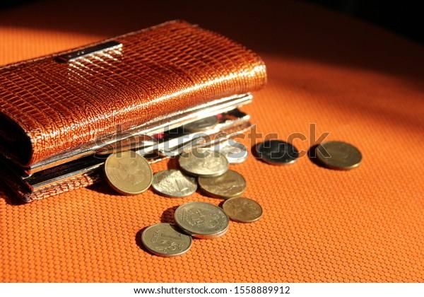 wallet-coins-on-orange-background-600w-1