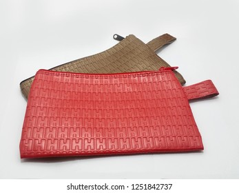 Wallet with emboss pattern texture