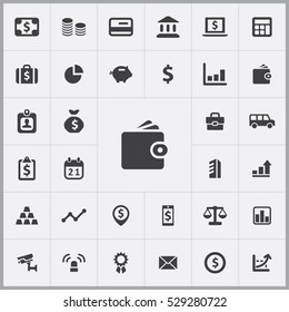 wallet icon. bank icons universal set for web and mobile