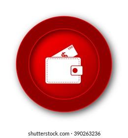 Wallet icon. Internet button on white background.
