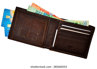 The wallet with money