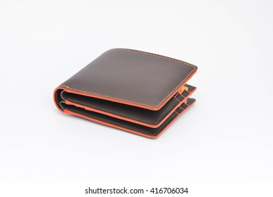 Wallet on the white screen