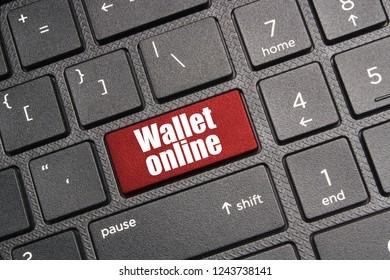 Wallet online button on computer keyboard