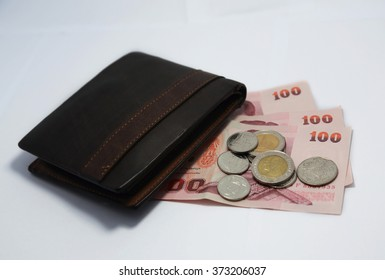 Wallet - Purse with money (Thai baht)