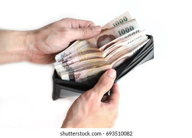 Wallet of the rich man