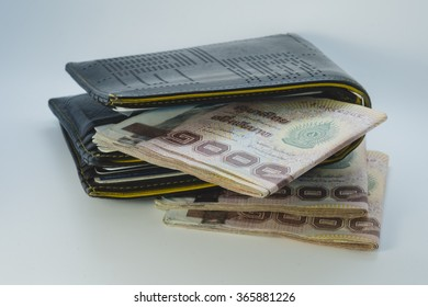 Wallet with thai baht