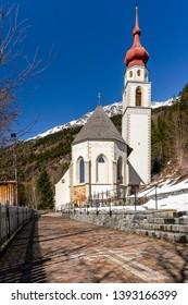 Wallfahrtskirche Kaltenbrunn, Kaunertal, Tirol, Österreich