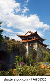 Wall,fortification of the old city of  Dali ,yunnan ,china