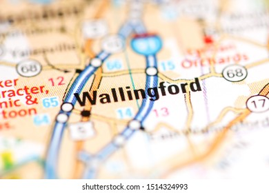 Wallingford. Connecticut. USA on a geography map