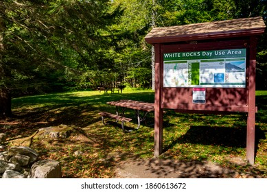Wallingford, Vermont, USA. September 18, 2020. The White Rocks Day Use picnic area in the White Rocks National Recreation area, Willingford, VT