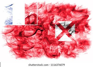 Wallis and Futuna smoke flag, France dependent territory flag