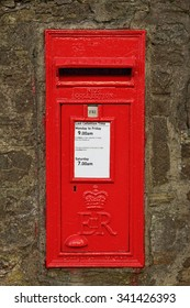 Wall-mounted english postbox