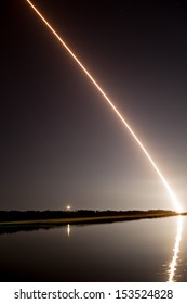 WALLOPS ISLAND, VA - SEPTEMBER 6, 2013: NASA launches the Lunar Atmosphere and Dust Environment Explorer (LADEE) on September 6 from Wallops Flight Facility in Virginia.
