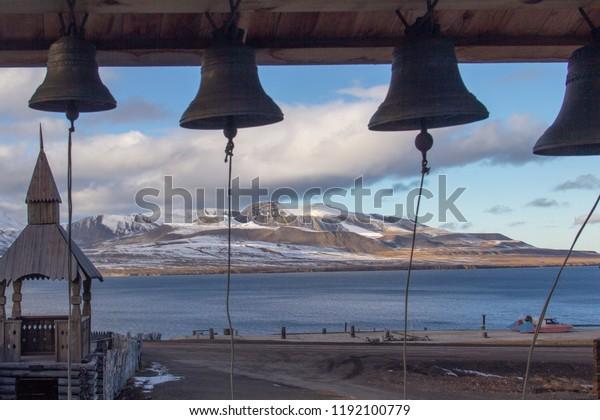 Wallpaper Four Church Bells Russian Orthodox Stock Photo