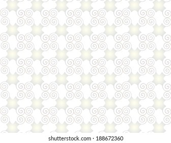 Wallpaper grid pearl arabesque spirals.