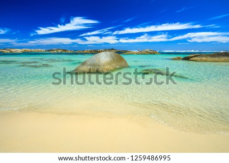Wallpaper Sea Background Sheltered Waters Greens Stock Photo Edit