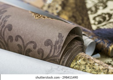 Wallpaper for walls. Wallpaper luxury class for interiors. artistic photo. rhinestones and glitter. paper Wallpaper