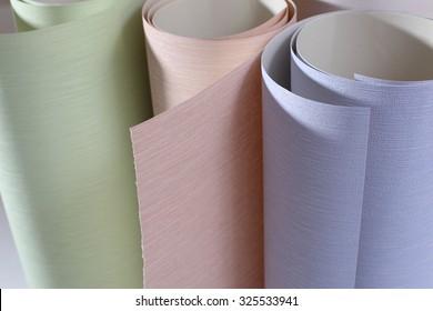 Wallpapering.Wallpaper rolls