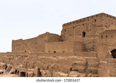 Walls of the ancient fortress Narin Qal'eh or Narin Castle is a mud-brick fort or castle in the town of Meybod, Iran.